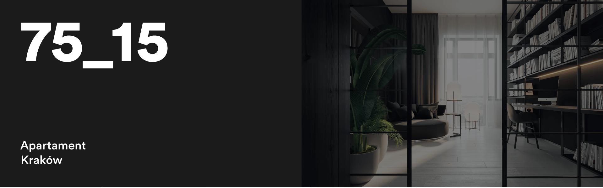 75_15 Projekt wnętrza apartamentu w Krakowie
