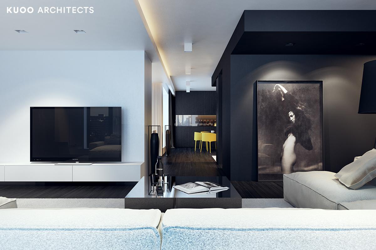 13, bielskobiala, kuooarchitects, kuoo, interior design, projekty wnetrz, salon