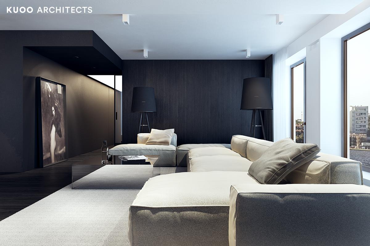 14, bielskobiala, kuooarchitects, kuoo, interior design, projekty wnetrz, salon
