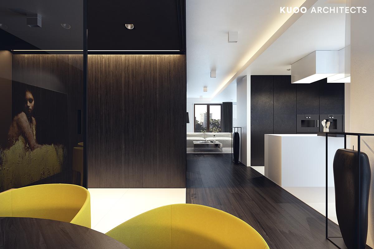 16, bielskobiala, kuooarchitects, kuoo, interior design, projekty wnetrz, jadalnia