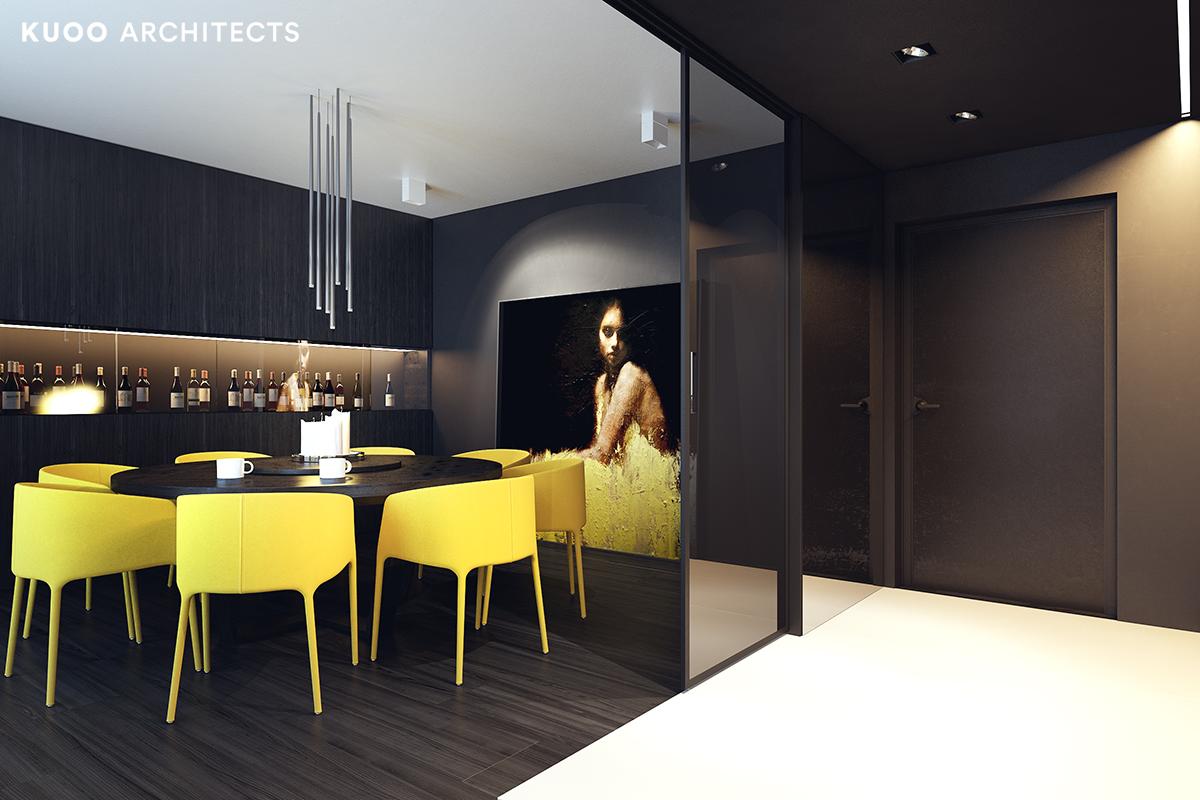17, bielskobiala, kuooarchitects, kuoo, interior design, projekty wnetrz, jadalnia