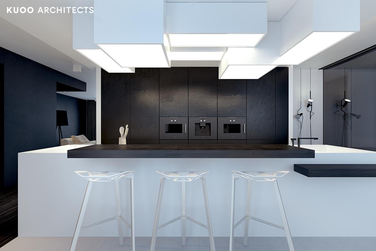 19, bielskobiala, kuooarchitects, kuoo, interior design, projekty wnetrz, kuchnia