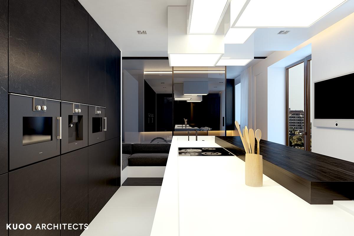 20, bielskobiala, kuooarchitects, kuoo, interior design, projekty wnetrz, kuchnia