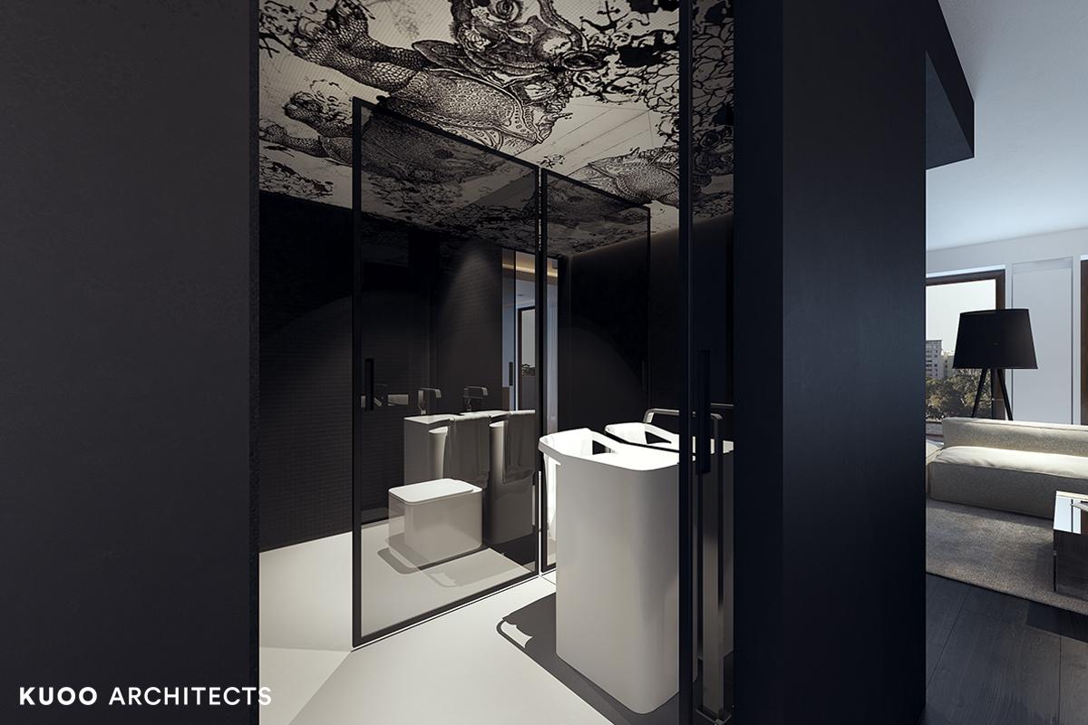 3, bielskobiala, kuooarchitects, kuoo, interior design, projekty wnetrz, minimalistyczna lazienka, łazienka