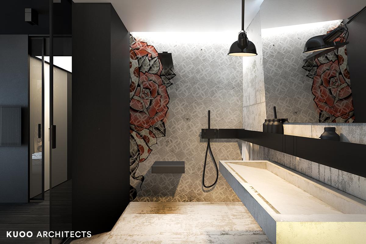 7, bielskobiala, kuooarchitects, kuoo, interior design, projekty wnetrz, minimalistyczna lazienka, łazienka