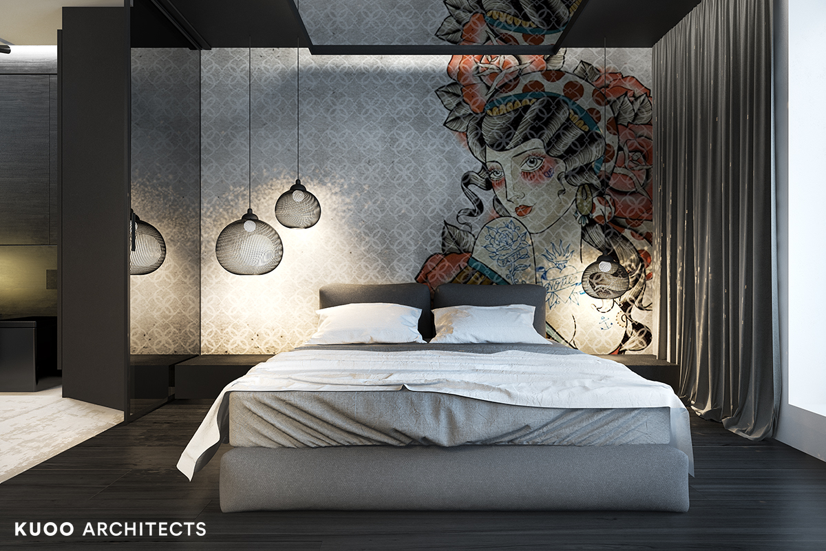 9, bielskobiala, kuooarchitects, kuoo, interior design, projekty wnetrz, sypialnia